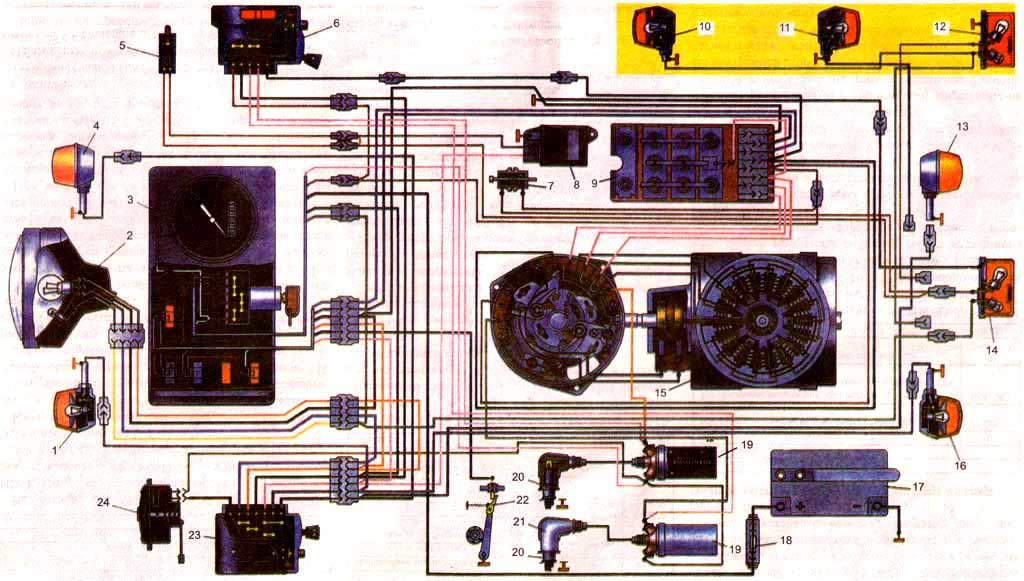 Схема проводки мотоцикла Иж-Юпитер 5(4) - ИЖ - все для ИЖ ...: http://moto-russ.ru/load/vse_dlja_izh/dobavljat_sjuda/skhema_provodki_motocikla_izh_jupiter_5_4/5-1-0-4